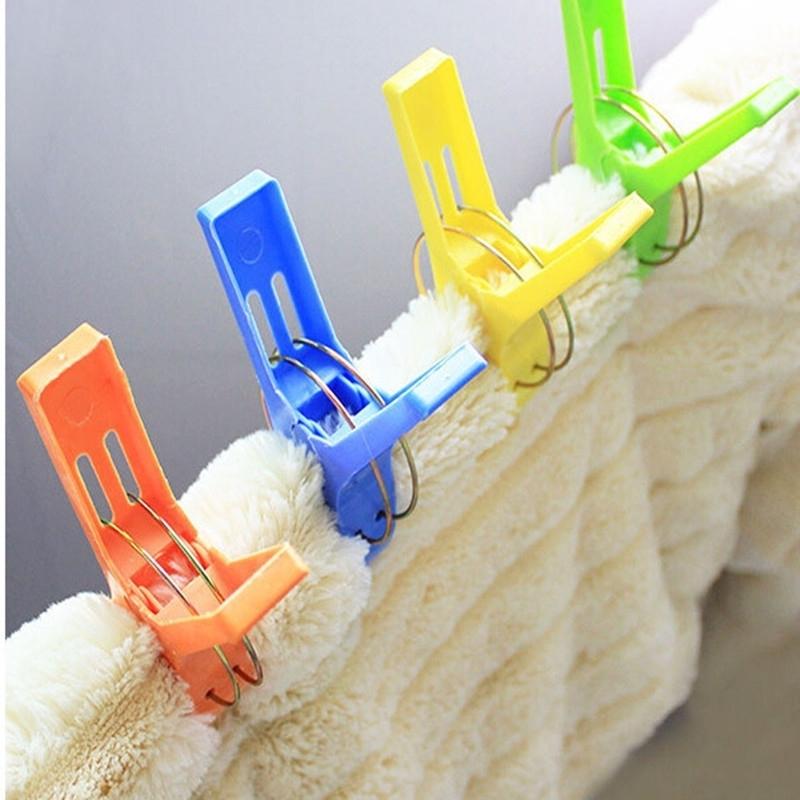 Grote badlaken knijpers voor op ligbed 4 stuks   Wassen artikelen artikelen
